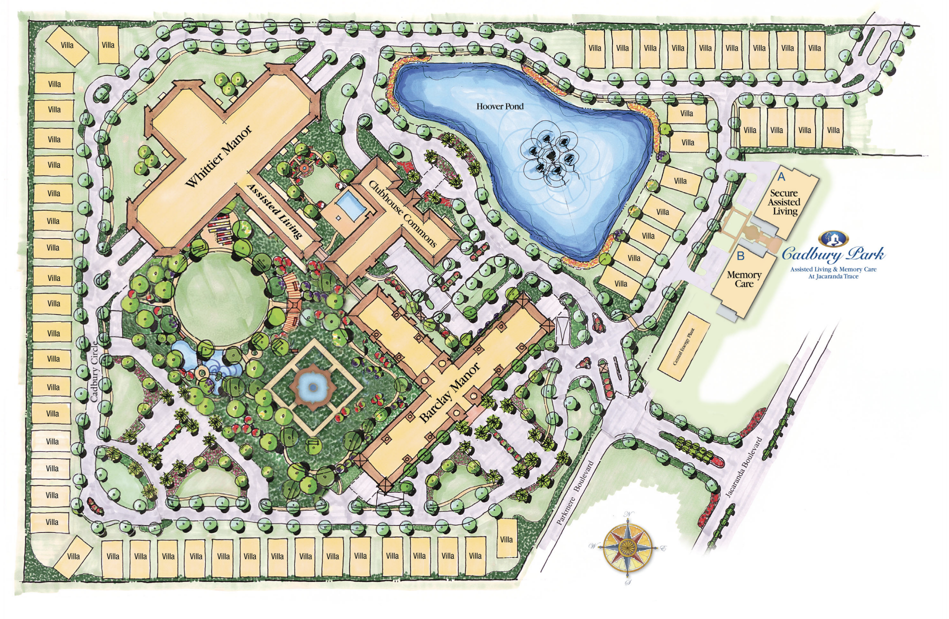 Jacaranda Trace Campus Map